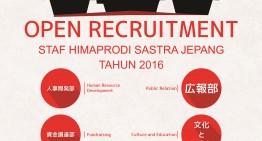OPREC STAF HIMAPRODI SASTRA JEPANG 2016 !!
