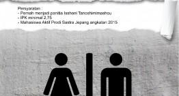 PEMILIHAN CALON KETUA PELAKSANA ISSHONI TANOSHIMIMASHOU 12
